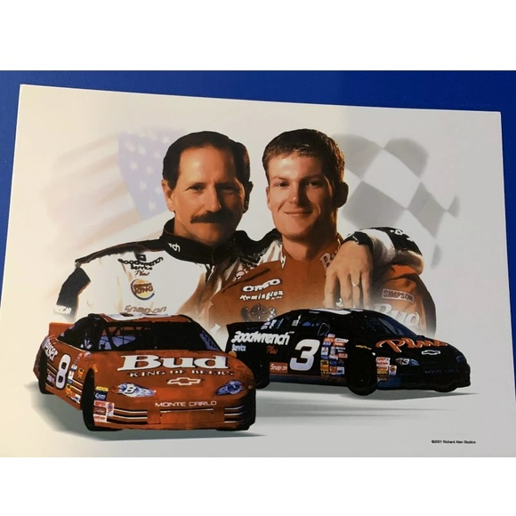 COPY - Dale Earnhardt Sr & Jr Art Print 11x14